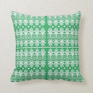 Almohada de tiro verde, blanca del modelo del