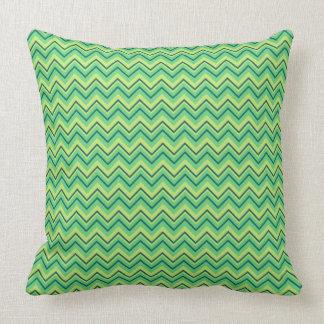 Almohada de tiro verde clara