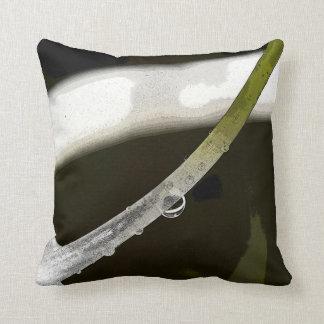 Almohada de tiro verde impresionante del rocío