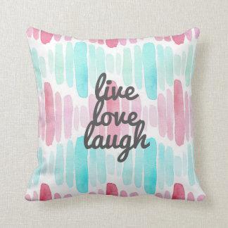 Almohada de tiro viva de la acuarela de la risa