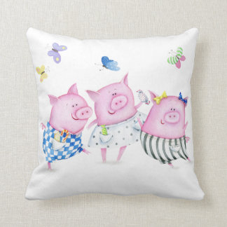 Almohada de tres pequeña cerdos