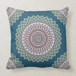 Almohada decorativa reversible azul azteca
