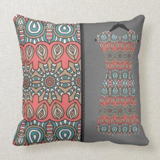Almohada decorativa reversible de la moda azteca