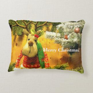 Almohada del acento de las Felices Navidad del