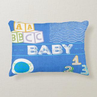 Almohada del acento del bebé de los niños - azul