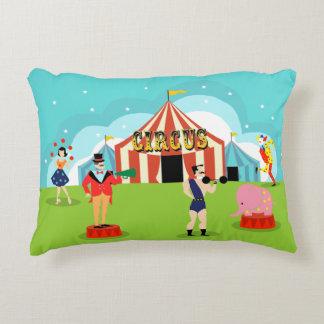 Almohada del acento del circo del vintage cojín