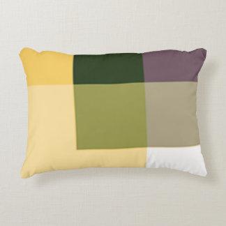 Almohada del acento del multicolor de la sepia por