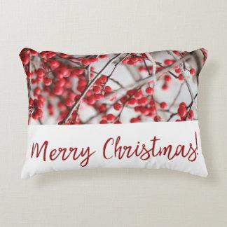 Almohada del acento del navidad de las bayas del