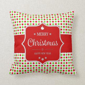 Almohada del algodón de los lunares del navidad