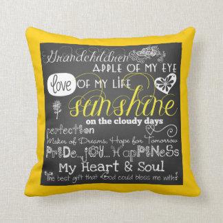 Cojín Decorativo Almohada del amor y de la inspiración de los