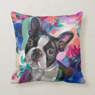Almohada del arte del perro de Boston Terrier de