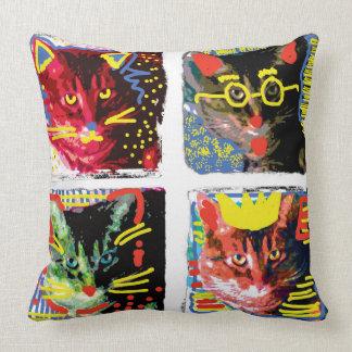 Almohada del arte pop del gato de Tabby