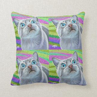 ¡Almohada del arte pop del gato del gatito Cojín Decorativo