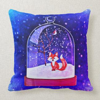 Almohada del azul del zorro del navidad