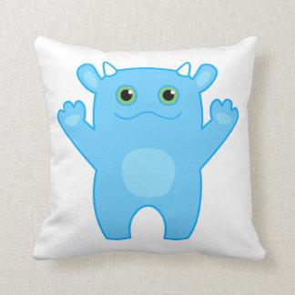 Almohada del bebé del monstruo de Li'l - azul