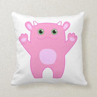 Almohada del bebé del monstruo de Li'l - rosa