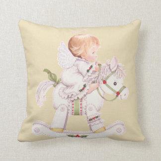 Almohada del caballo mecedora del bebé del ángel