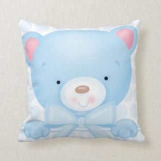 Almohada del cuadrado del oso del bebé