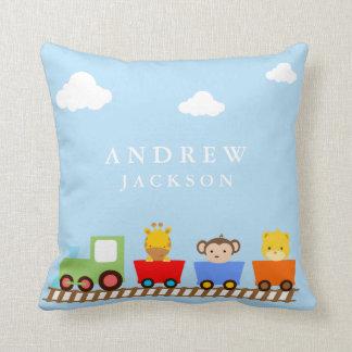 Almohada del cuarto de niños del bebé del tren del