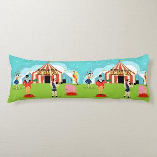 Almohada del cuerpo del circo del vintage cojin cama
