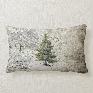 Almohada del día de fiesta del árbol del vintage