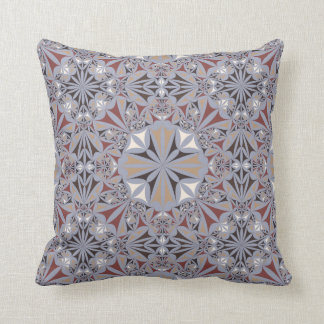 Almohada del diseñador del gris de plata del