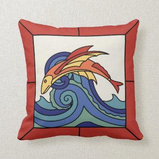 Almohada del diseño de la teja del pez volador de