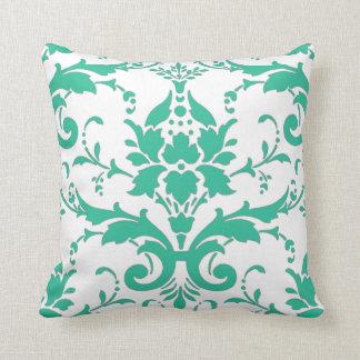 Almohada del diseño del damasco del trullo