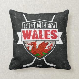 Almohada del hockey sobre hielo Galés, bandera de