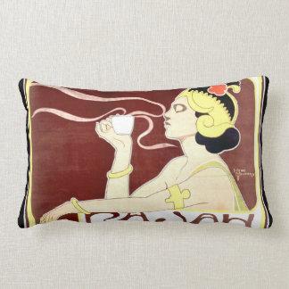 Almohada del Lumbar de Nouveau del arte de Rajah