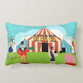 Almohada del Lumbar del circo del vintage