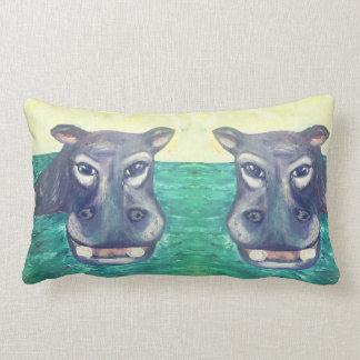 Almohada del Lumbar del hipopótamo