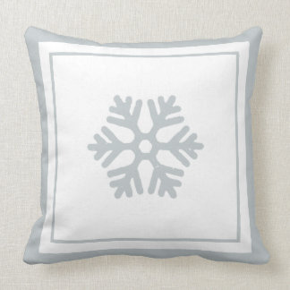 Almohada del navidad blanco de los azules claros
