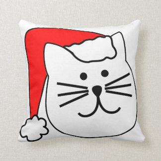 Almohada del navidad del gato de Santa