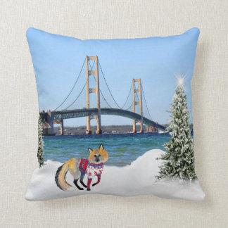 Almohada del navidad del puente de Mackinac