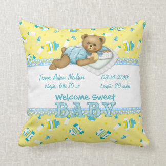 Almohada del oso de peluche del bebé