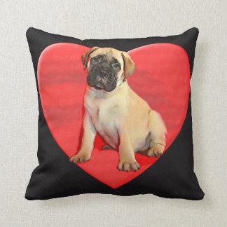Almohada del perrito de Bullmastiff de las