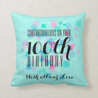 Almohada del personalizado del cumpleaños de los