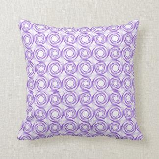 Almohada del vórtice espiral de la lavanda