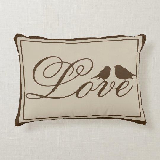 Almohada elegante y linda del acento del amor
