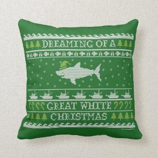 Almohada fea del tiburón del navidad del estilo