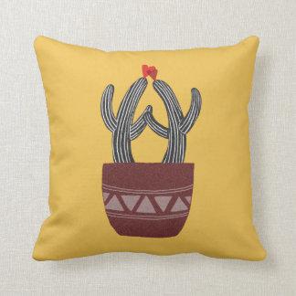 Almohada feliz del cactus del cactus de la