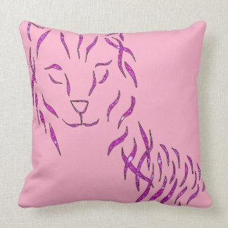 Almohada femenina de la decoración del gato brilla