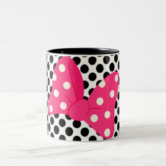 Almohada femenina del arte pop taza de café de dos colores