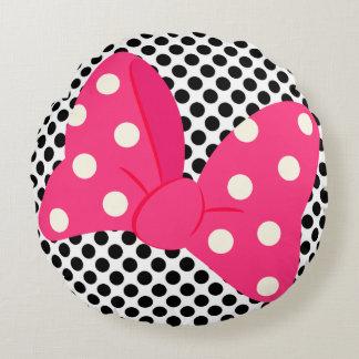 Almohada femenina rosada cojín redondo