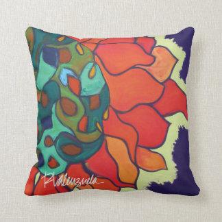 Almohada floral abstracta brillante