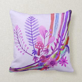 Almohada floral abstracta ultravioleta