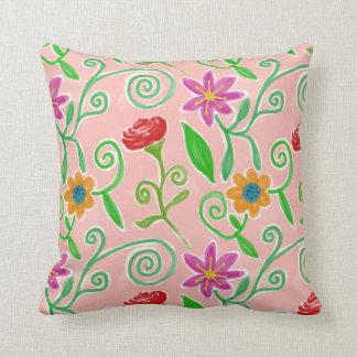 Almohada floral de la acuarela