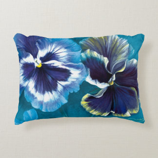 Almohada floral de la bella arte del pensamiento