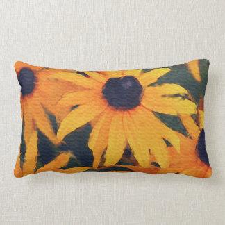 Almohada floral de la pintura de las margaritas am
